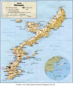 Mapa Okinawa